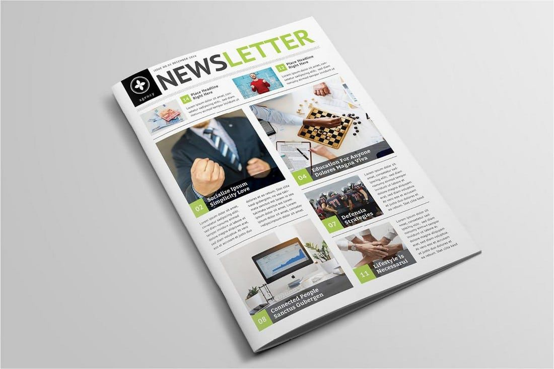 006 Fearsome Adobe Indesign Newsletter Template Free Download Highest Clarity Full