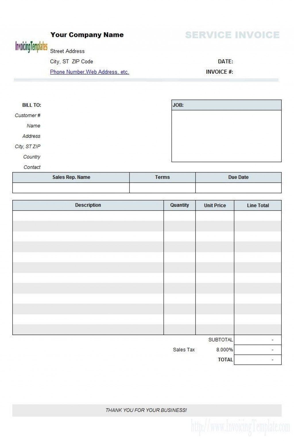 006 Fearsome Blank Invoice Template Excel Highest Quality  Free Download ReceiptLarge
