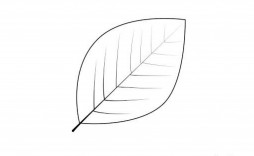 006 Fearsome Blank Leaf Template With Line Highest Quality  Lines Printable
