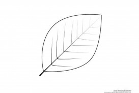 006 Fearsome Blank Leaf Template With Line Highest Quality  Printable