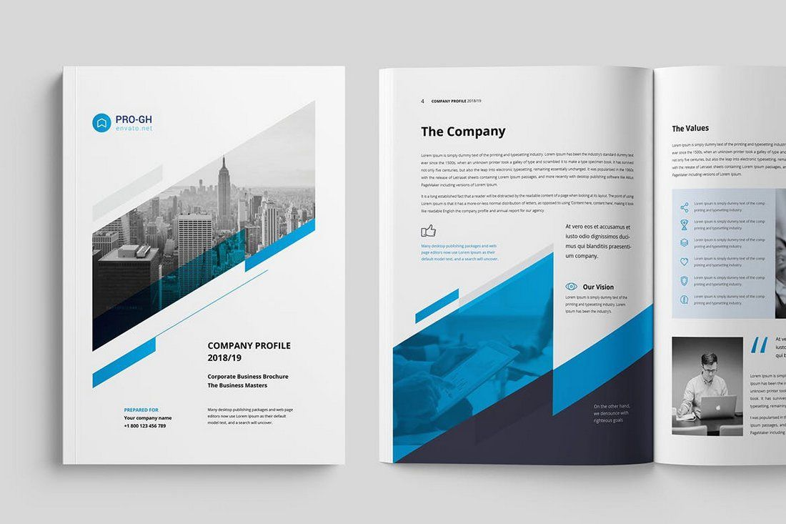 006 Fearsome Busines Brochure Design Template Free Download High Definition Full