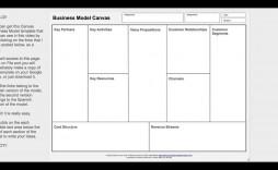 006 Fearsome Busines Model Canva Template Word Idea  Microsoft Download