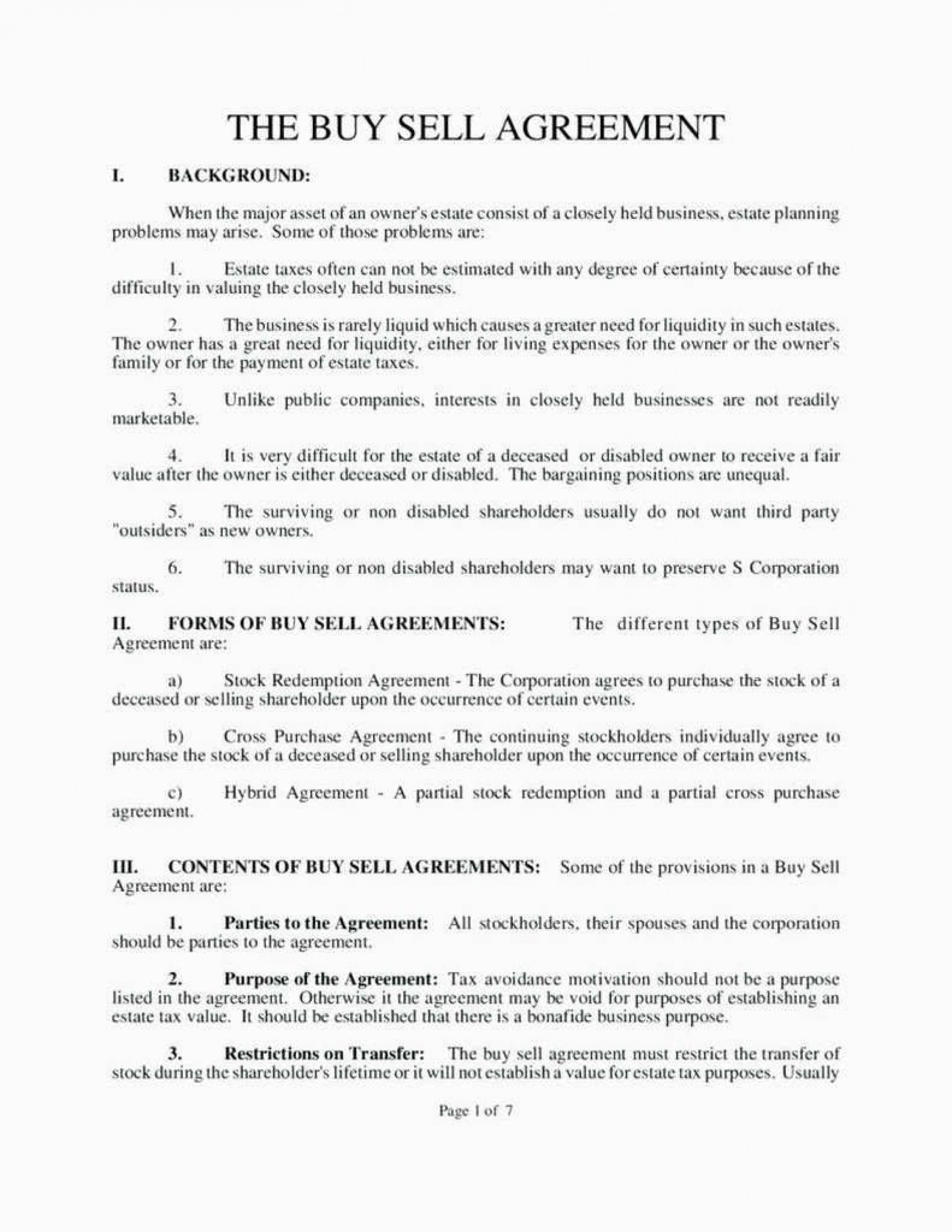 006 Fearsome Buy Sell Agreement Llc Template Free High Resolution 1920