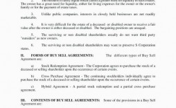006 Fearsome Buy Sell Agreement Llc Template Free High Resolution