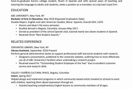 006 Fearsome College Graduate Resume Template Highest Quality  Student Example 2020 New 2018