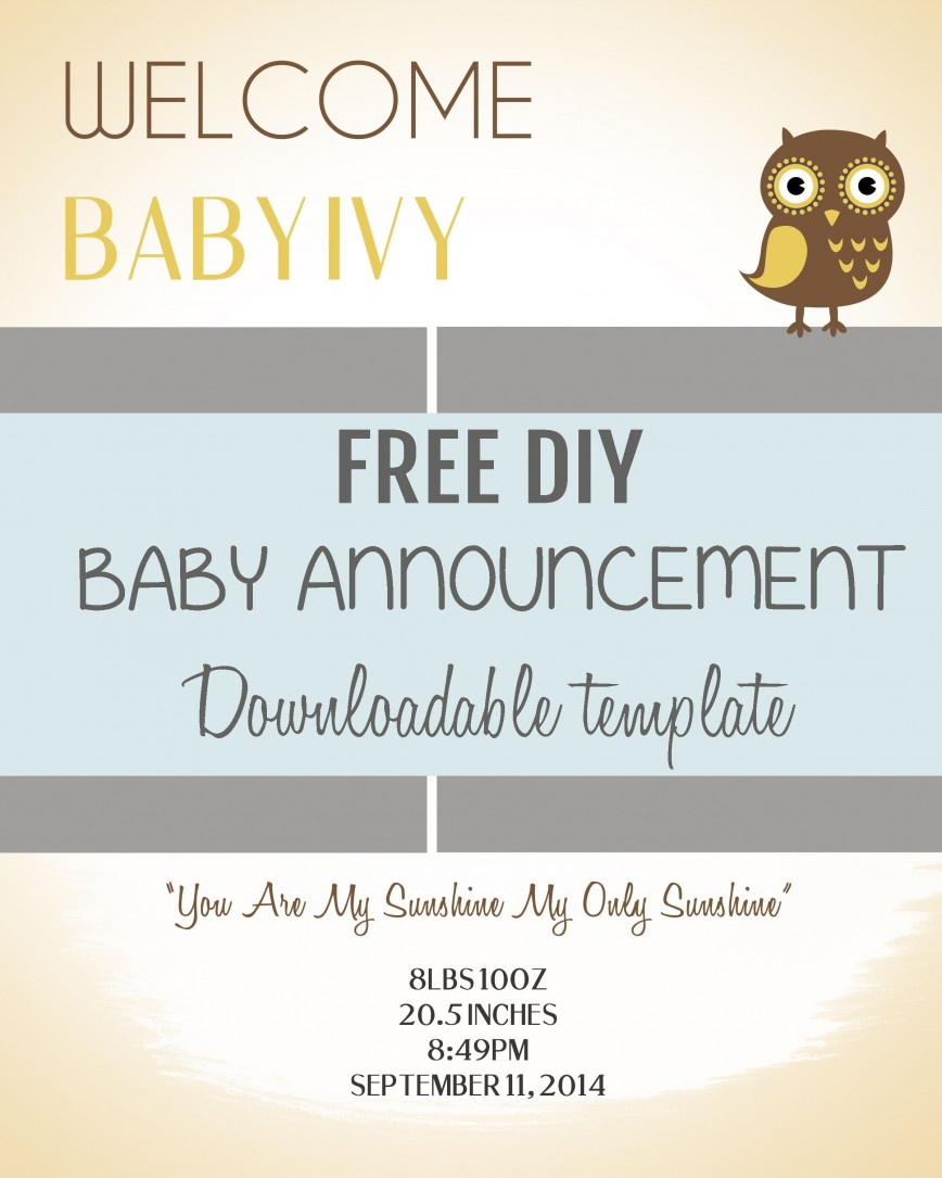 006 Fearsome Free Baby Announcement Template Inspiration  Templates Shower Invitation Editable Boy Photoshop Birth