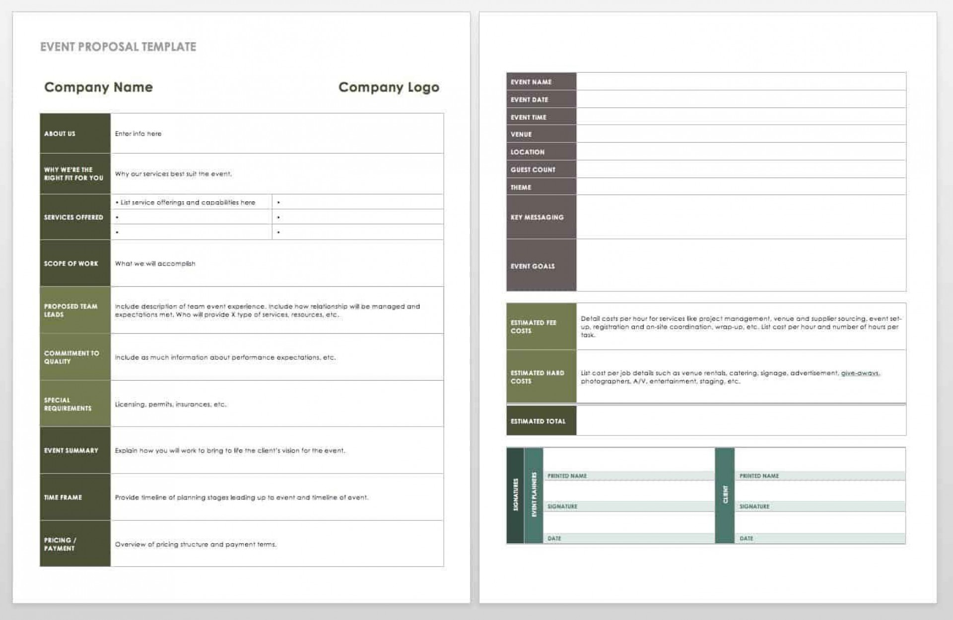 006 Fearsome Free Event Planner Template Word High Def  Planning Contract1920