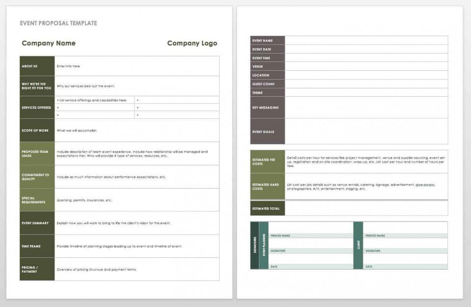 006 Fearsome Free Event Planner Template Word High Def  Planning Contract Checklist960