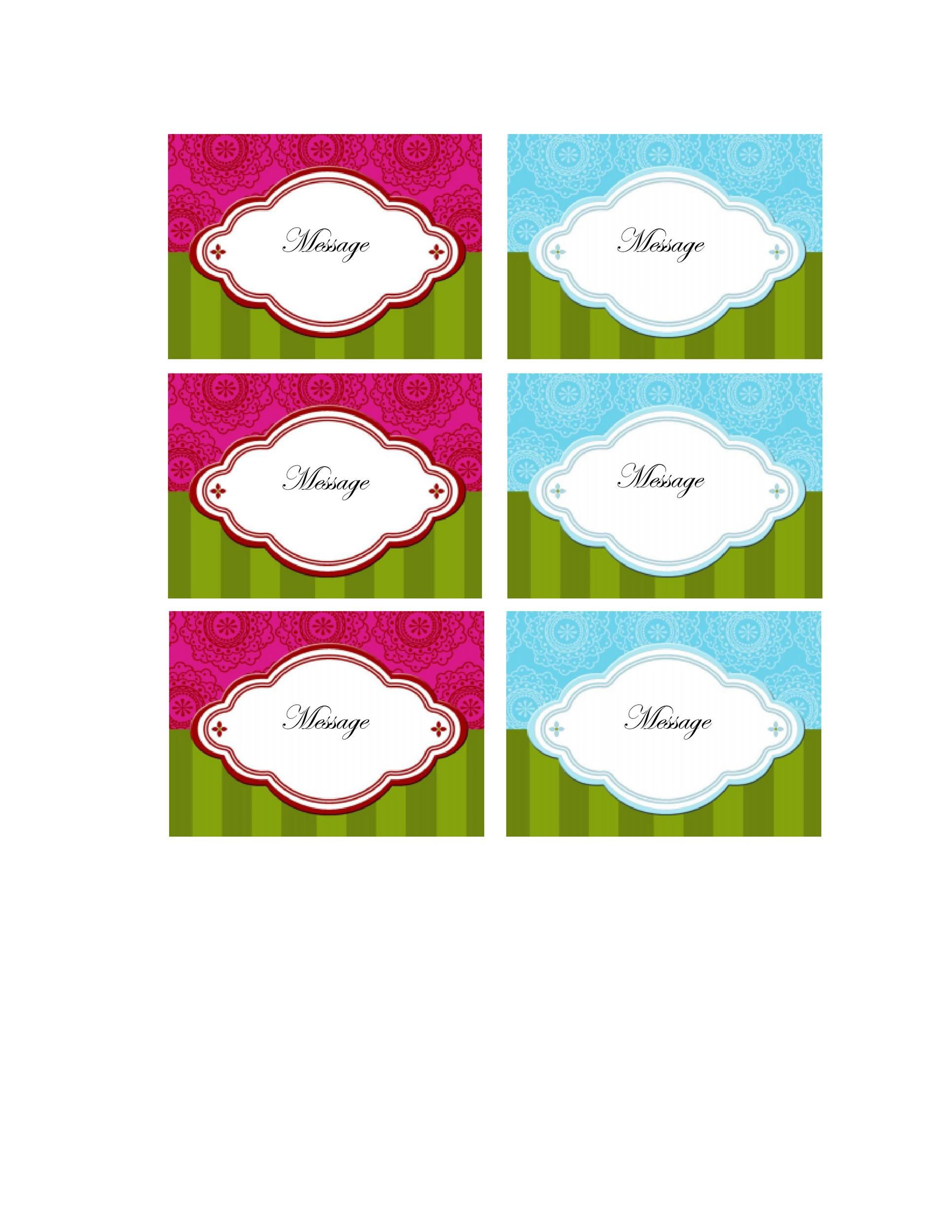 006 Fearsome Free Gift Tag Template Picture  Templates Downloadable Christma Printable For Word To PrintFull