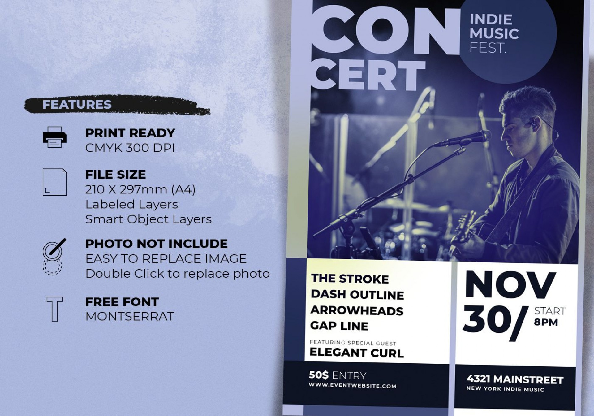 006 Fearsome Free Photoshop Concert Poster Template Highest Quality  Templates1920