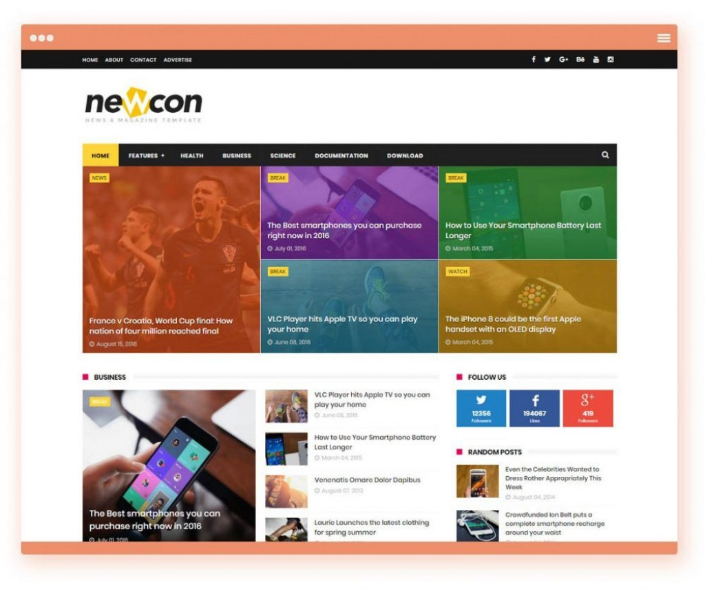 006 Fearsome Free Responsive Blogger Template One Column Concept Large
