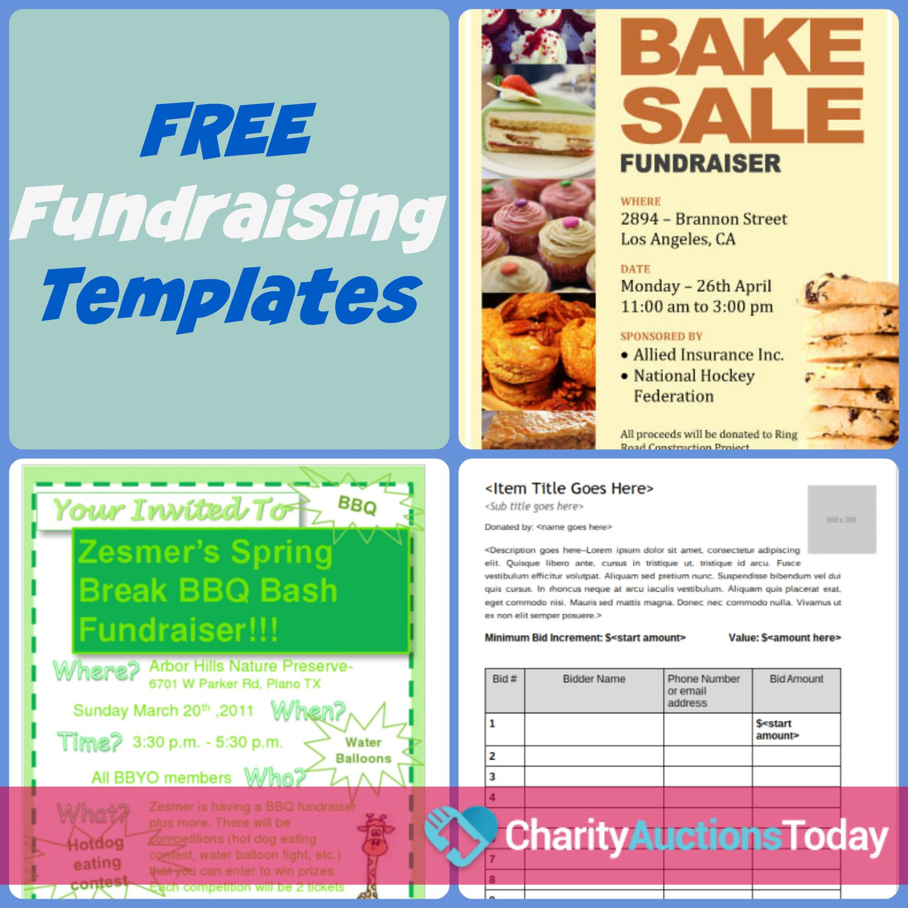 006 Fearsome Fundraiser Flyer Template Microsoft Word Sample