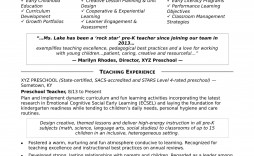 006 Fearsome Good Resume For Teaching Job High Resolution  Sample A Teacher' Word Format Fresher In India