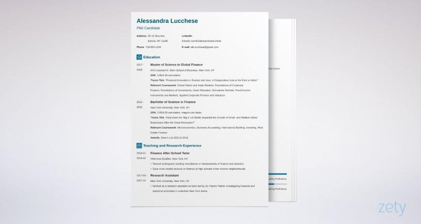 006 Fearsome Grad School Resume Template Free Picture
