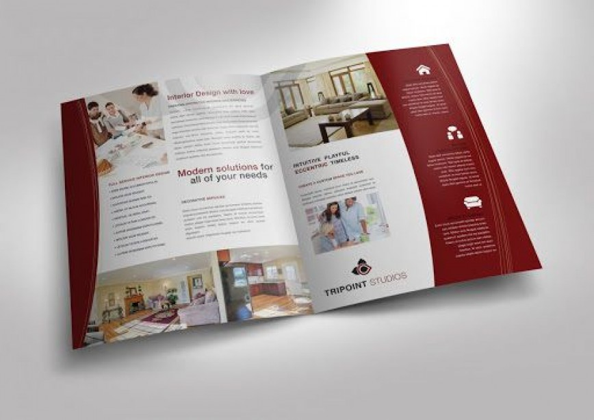 006 Fearsome Half Fold Brochure Template Highest Clarity  11x17 Indesign Free