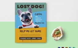 006 Fearsome Lost Pet Flyer Template Photo  Word