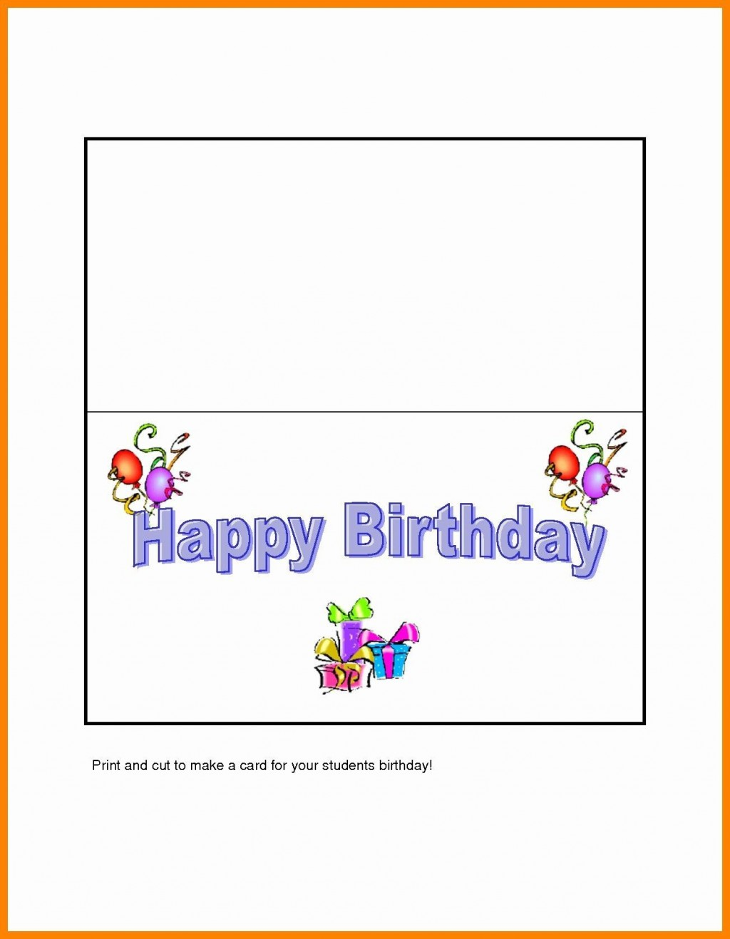 006 Fearsome Quarter Fold Birthday Card Template Free Highest Quality  DownloadLarge