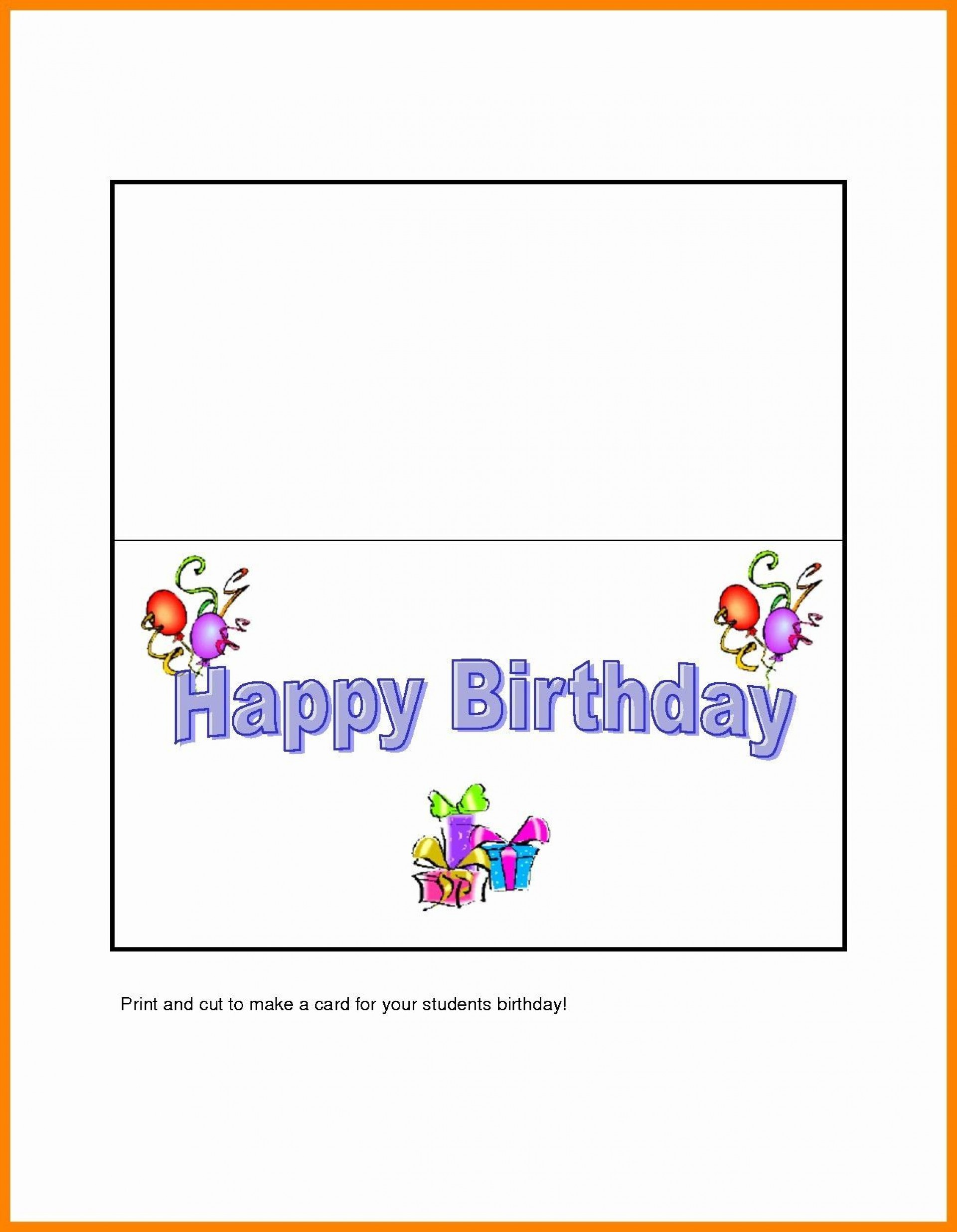 006 Fearsome Quarter Fold Birthday Card Template Free Highest Quality  Download1920