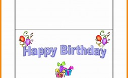 006 Fearsome Quarter Fold Birthday Card Template Free Highest Quality  Download
