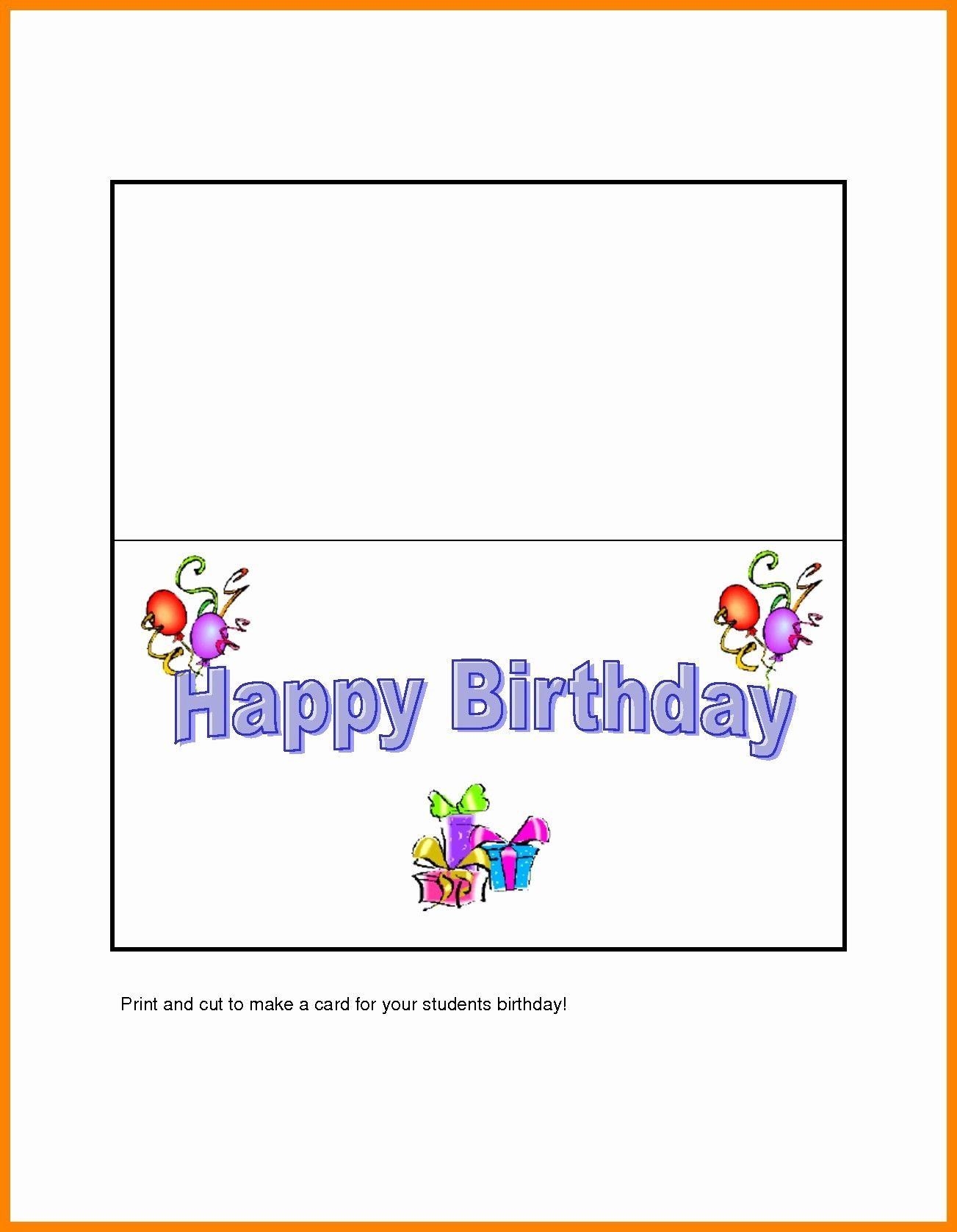 006 Fearsome Quarter Fold Birthday Card Template Free Highest Quality  DownloadFull