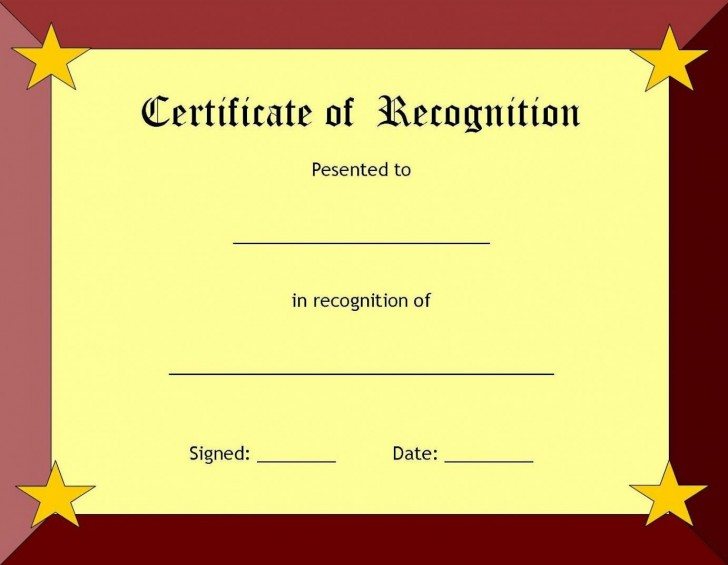 006 Fearsome Recognition Certificate Template Free Picture  Employee Award Of Download Word728