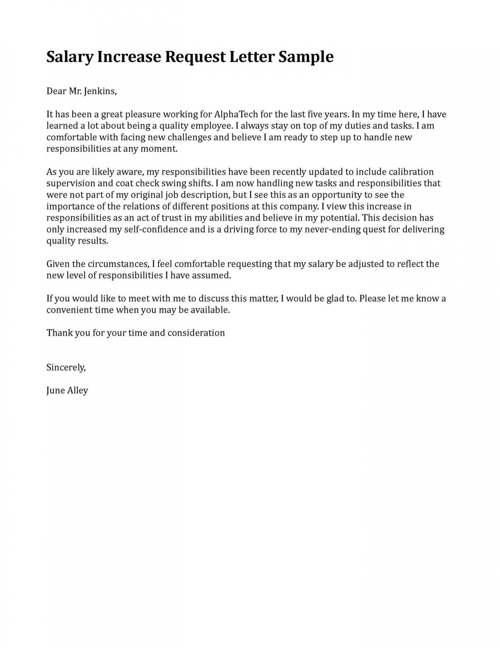 006 Fearsome Salary Increase Letter Template Highest Clarity  From Employer To Employee Australia No For1920