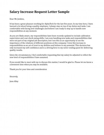 006 Fearsome Salary Increase Letter Template Highest Clarity  From Employer To Employee Australia No For360