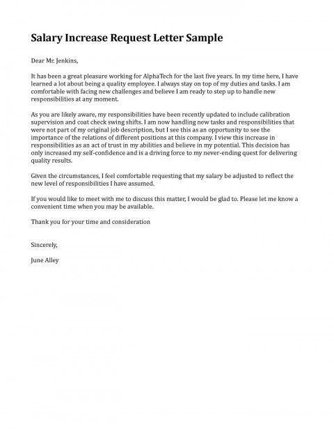 006 Fearsome Salary Increase Letter Template Highest Clarity  From Employer To Employee Australia No For480
