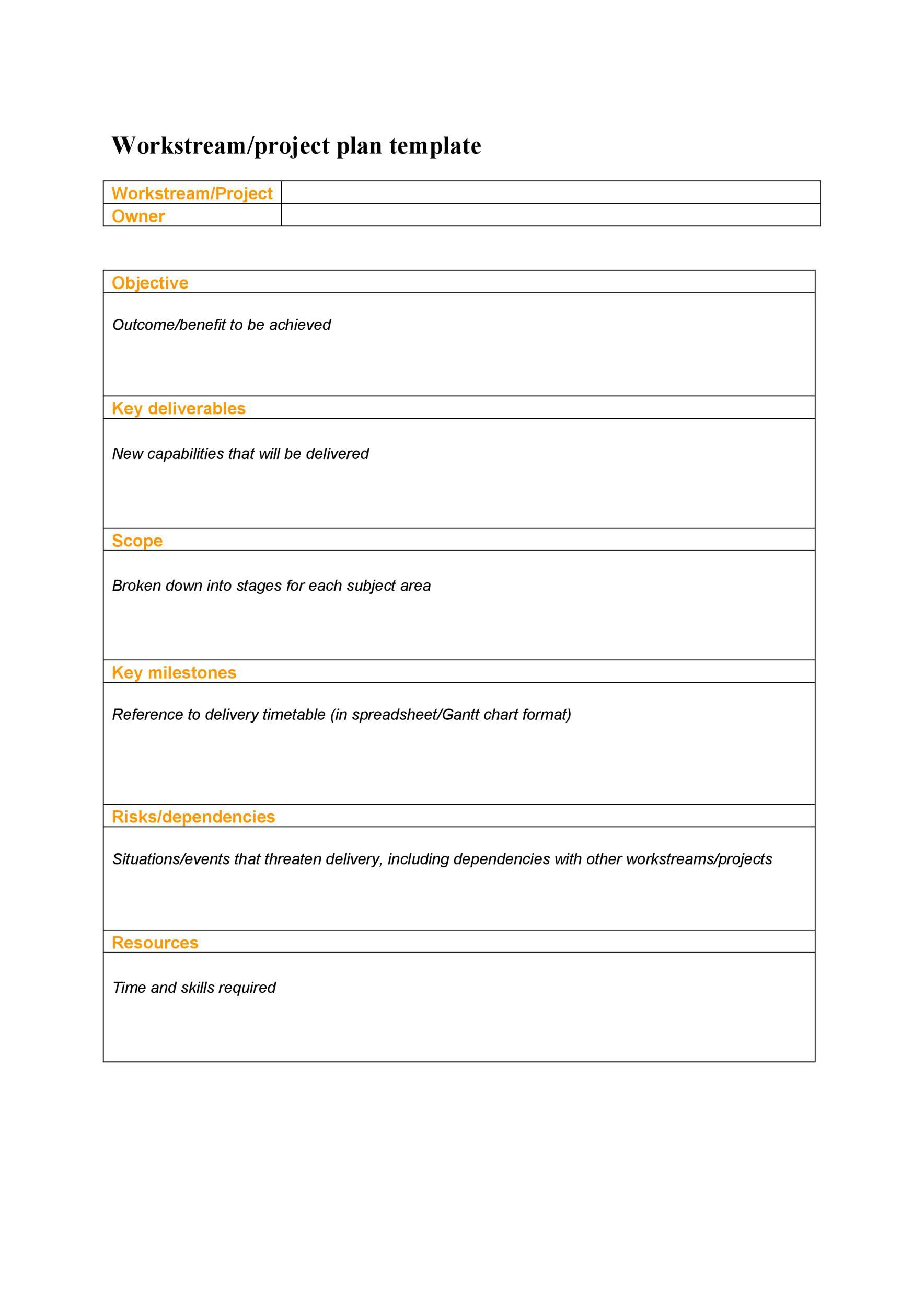 006 Fearsome Simple Project Plan Template Example  Free Download Management WordFull