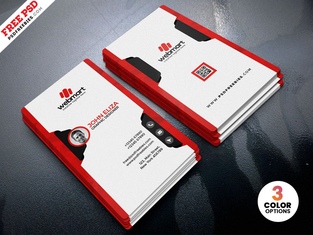 006 Fearsome Simple Visiting Card Design Psd Picture  Minimalist Busines Template Free File Download In PhotoshopFull