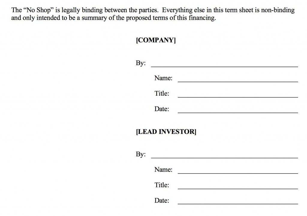 006 Fearsome Term Sheet Template Word Sample  Simple Loan MicrosoftLarge