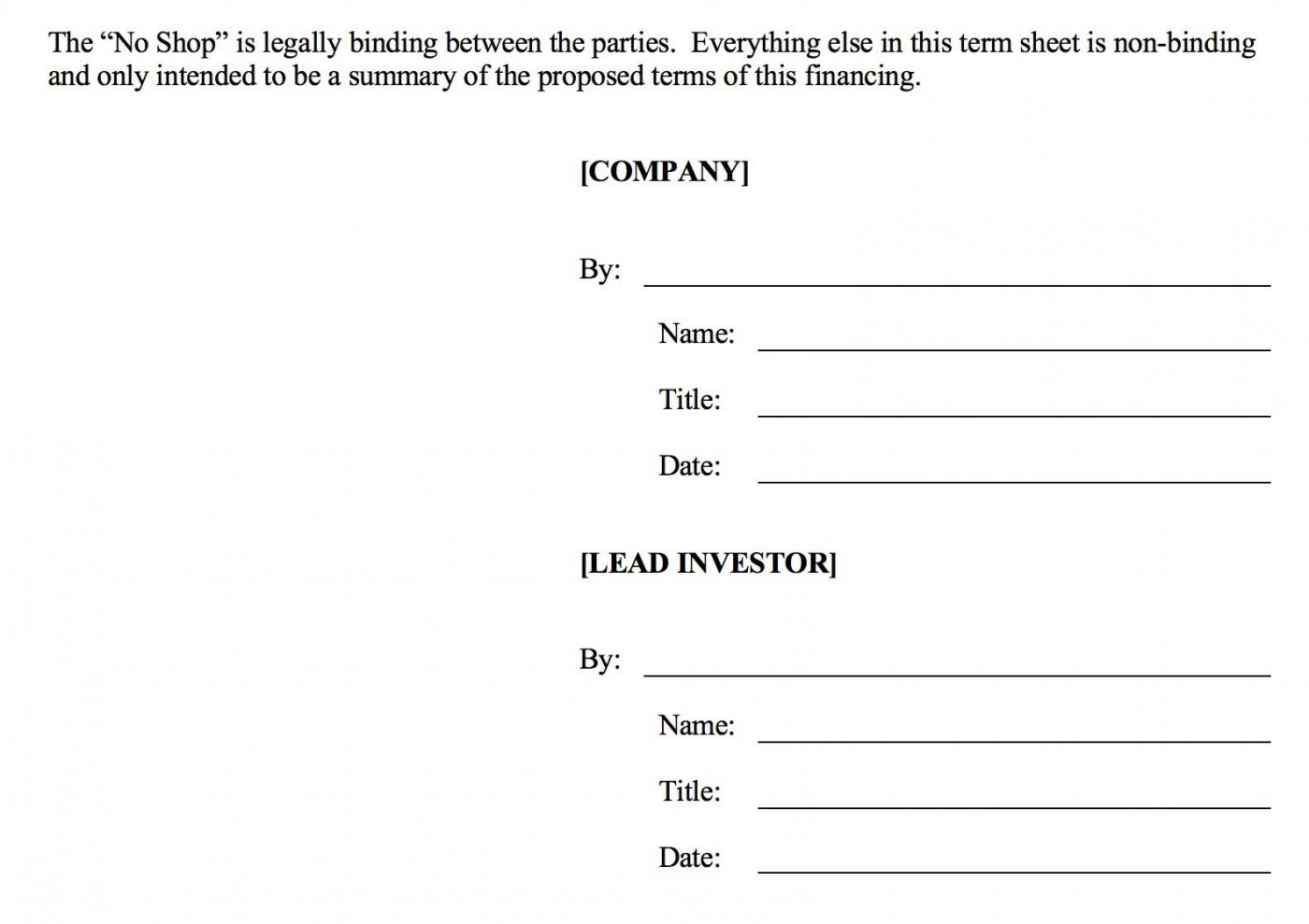 006 Fearsome Term Sheet Template Word Sample  Simple Loan Microsoft1400