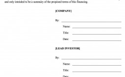 006 Fearsome Term Sheet Template Word Sample  Loan Simple
