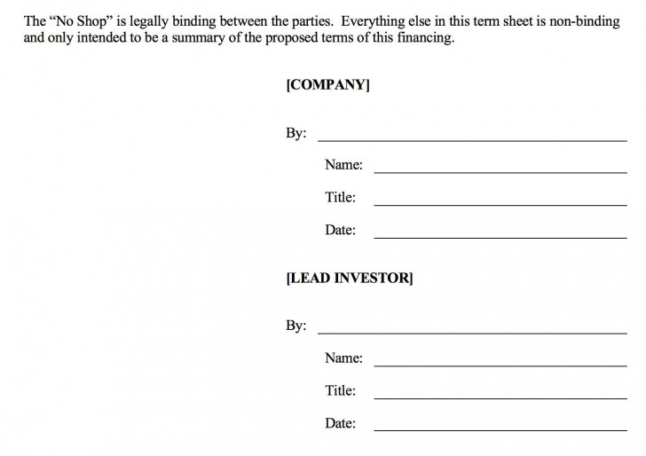 006 Fearsome Term Sheet Template Word Sample  Simple Loan Microsoft728
