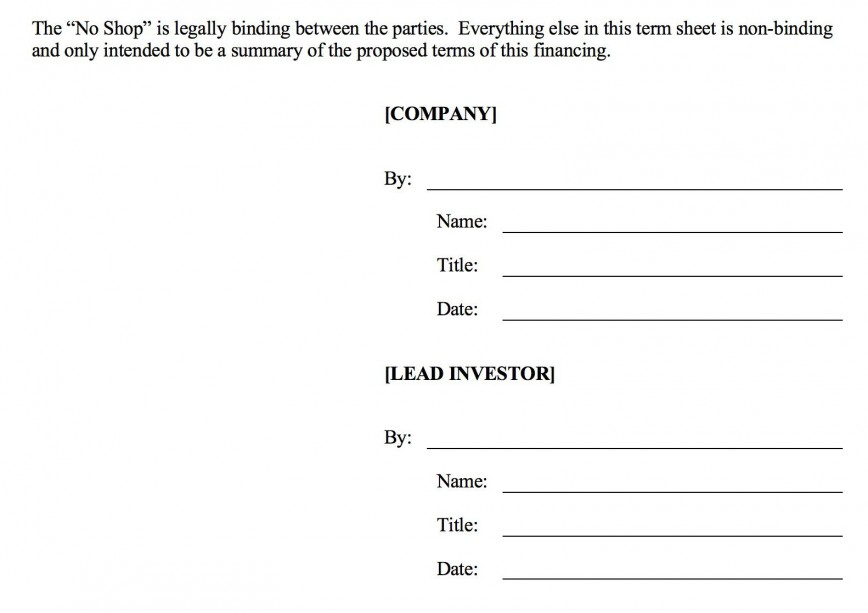 006 Fearsome Term Sheet Template Word Sample  Simple Loan Microsoft868