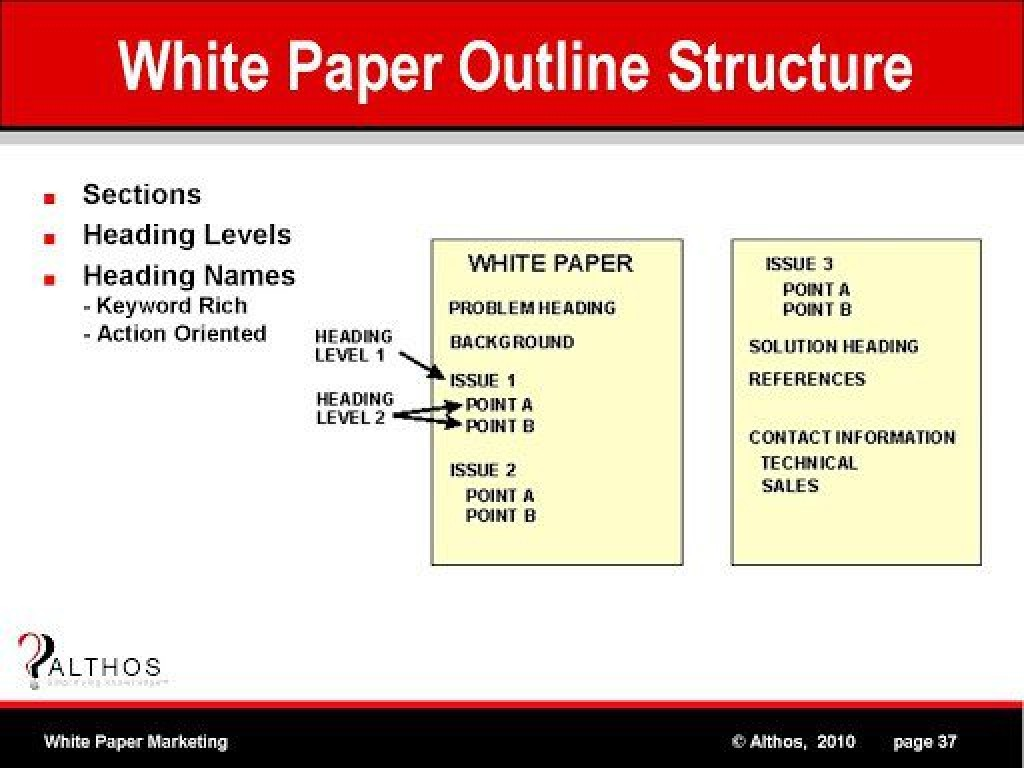 006 Fearsome White Paper Outline Template High Definition  FreeLarge