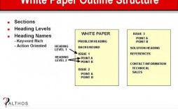 006 Fearsome White Paper Outline Template High Definition  Free