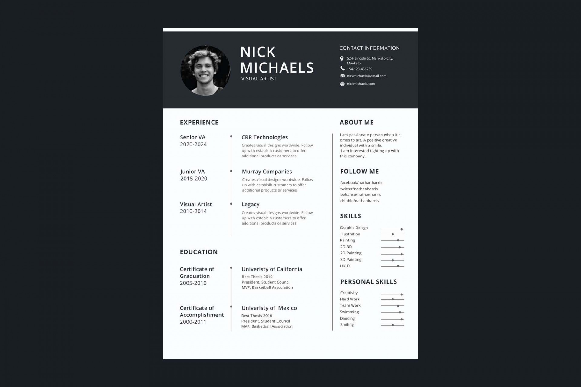 006 Formidable 1 Page Resume Template Highest Quality  Templates One Basic Word Free Html Download1920
