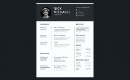 006 Formidable 1 Page Resume Template Highest Quality  Templates One Basic Word Free Html Download