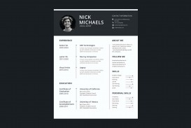 006 Formidable 1 Page Resume Template Highest Quality  One Microsoft Word Free For Fresher