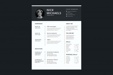 006 Formidable 1 Page Resume Template Highest Quality  One Microsoft Word Free For Fresher360