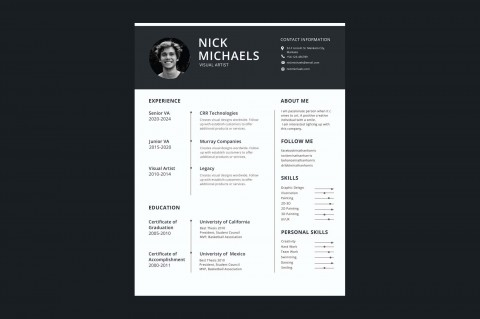 006 Formidable 1 Page Resume Template Highest Quality  One Microsoft Word Free For Fresher480