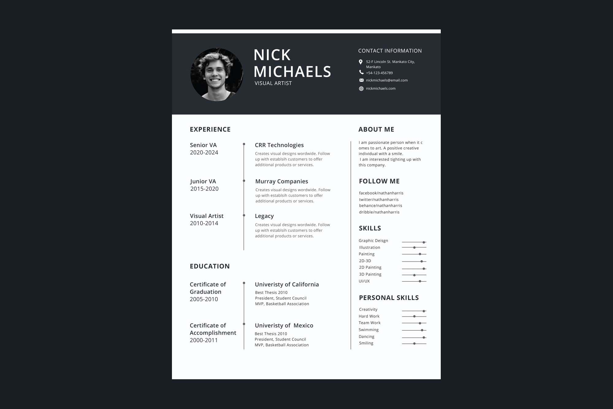 006 Formidable 1 Page Resume Template Highest Quality  Templates One Basic Word Free Html DownloadFull