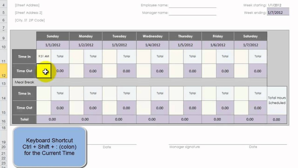 006 Formidable Employee Time Card Sample High Def  Free Form TemplateLarge