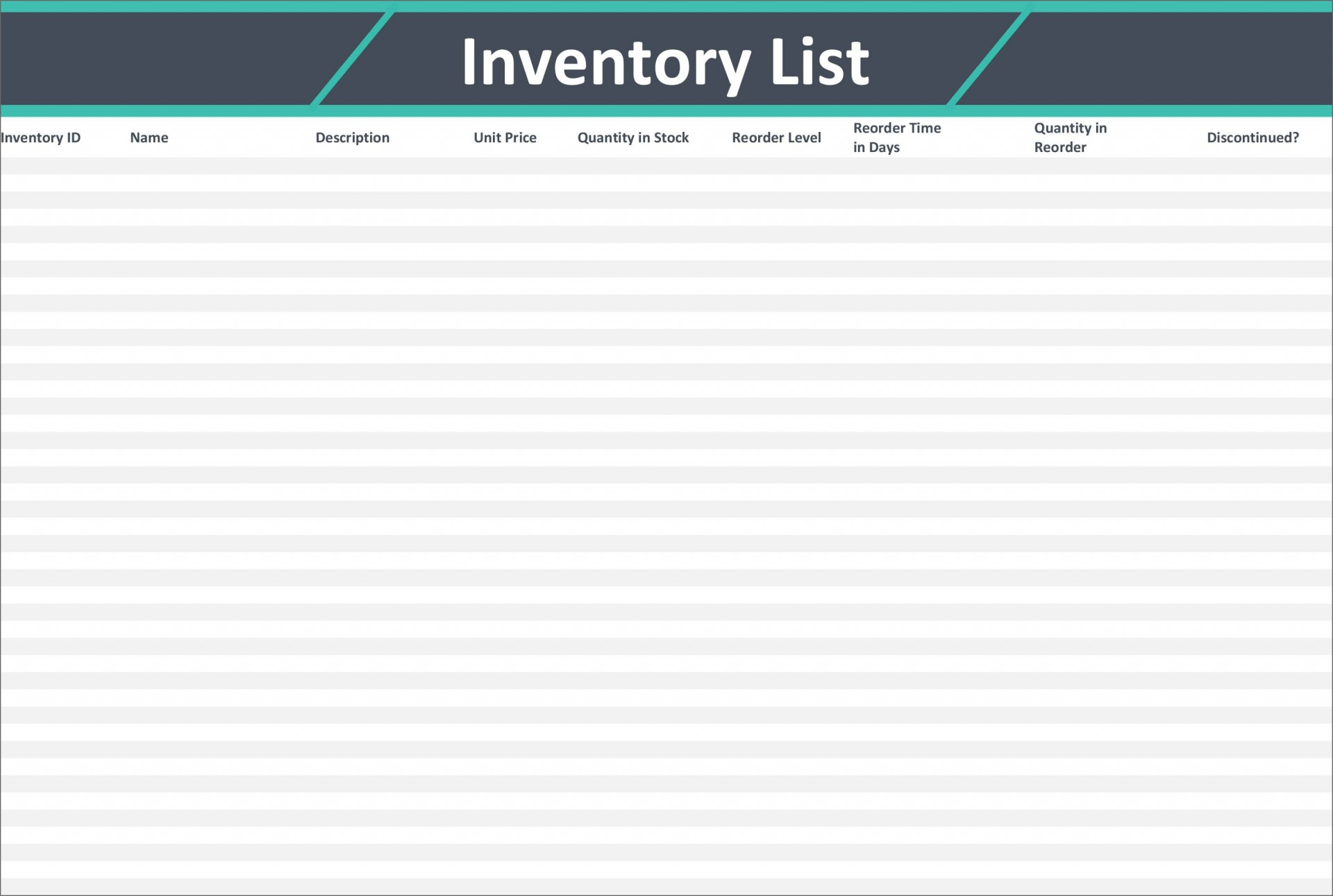 Free Excel Warehouse Inventory Templates Addictionary