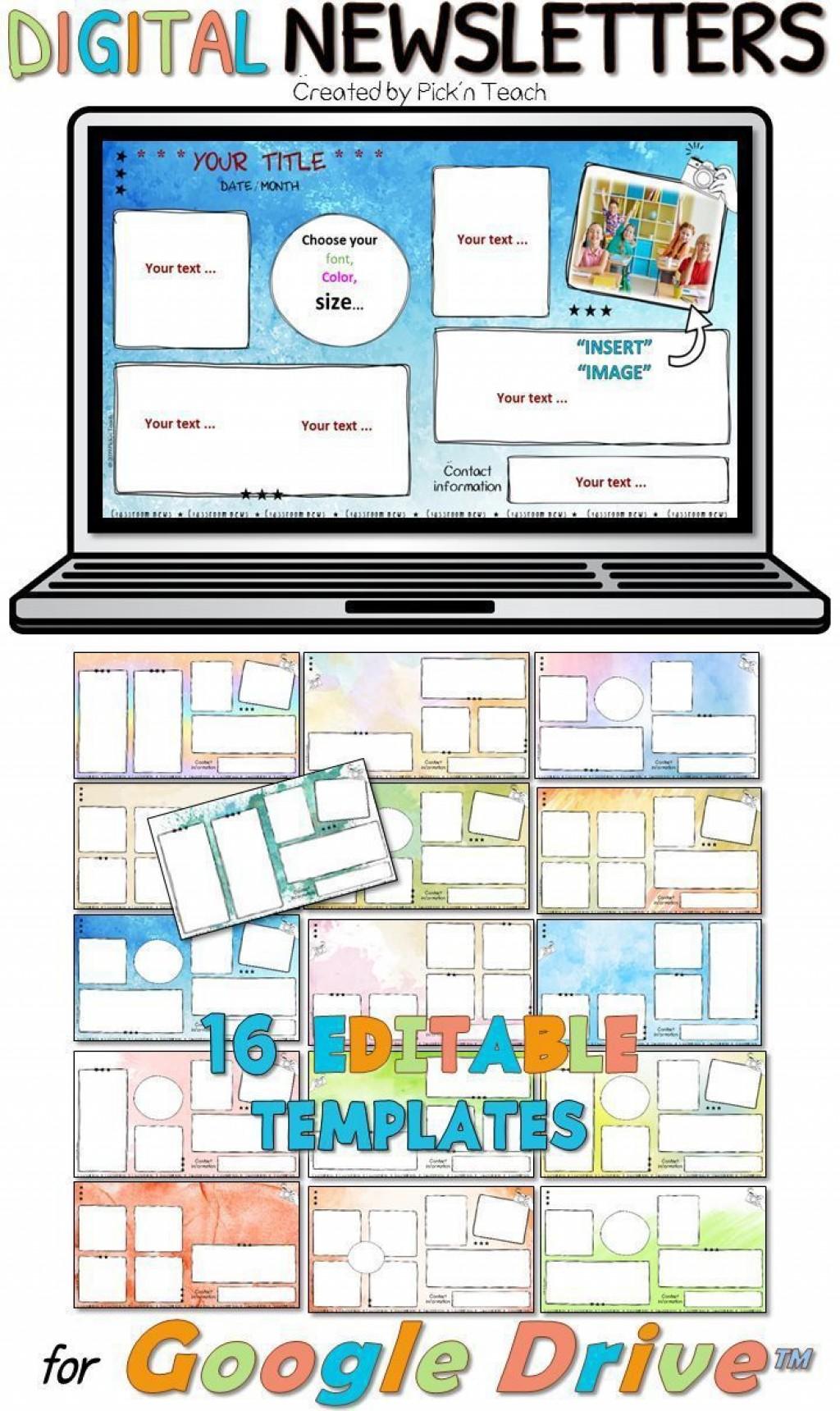 006 Formidable Google Newsletter Template For Teacher Example  Teachers FreeLarge