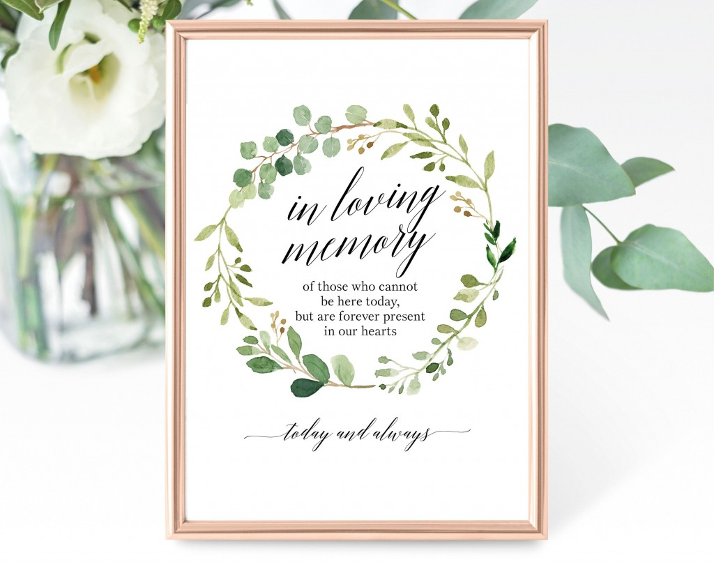 006 Formidable In Loving Memory Template Example  Templates WordLarge