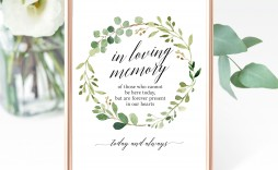 006 Formidable In Loving Memory Template Example  Templates Word