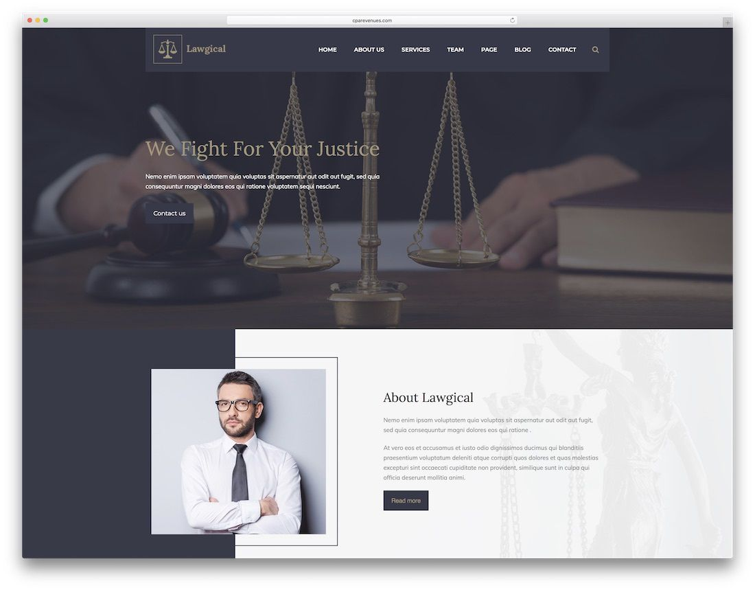 006 Formidable Law Firm Website Template Free Design  WordpresFull