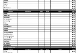 006 Formidable Line Item Budget Template Film High Definition